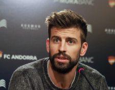 El defensa español Gerard Piqué además de jugar para el Barcelona también estará atento a su equipo, el FC Andorra. (Foto Prensa Libre: AFP)