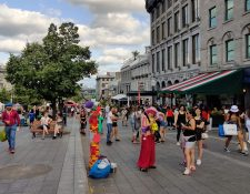 La plaza Jacques Cartier en el Viejo Montreal, Quebec. (Foto Prensa Libre: AFP)
