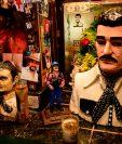 Un busto del Chapo Guzmán se encuentra en la capilla de Jesús Malverde en Sinaloa, México. (Foto Prensa Libre: AFP)