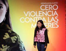 El mensaje de Yalitza Aparicio no es solo para quienes han sido víctimas, sino que también habla a los generadores de violencia.  Foto Prensa Libre: AFP
