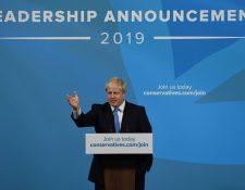 El político Boris Johnson prometió la salida de la UE aunque no exista acuerdo. (Foto Prensa Libre: AFP)