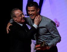 Florentino Pérez descartó que Cristiano Ronaldo regrese al Real Madrid. Foto Prensa Libre: AFP.
