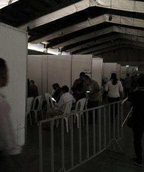 Suspenden momentáneamente revisión de actas electorales por apagón en el Parque de la Industria
