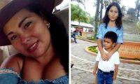 La hondureña Rossibeth Flores y sus hijos Grecia y Ever, quienes fueron asesinados el martes 16 de julio en Iowa, Estados Unidos. (Foto Prensa Libre)