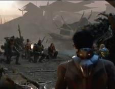 Los Avengers se arrodillan para reconocer el sacrificio de ironman. (Foto Prensa Libre: Avengers Endgame)