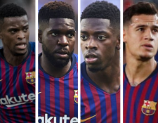 Semedo, Umtiti, Dembélé y Coutinho son los jugadores que el Barcelona le ofreció al PSG a cambio de Neymar. (Foto Prensa Libre: Hemeroteca PL)