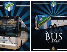 Este es el nuevo bus de Comunicaciones. (Foto Prensa Libre: Twitter @CremasOficial)