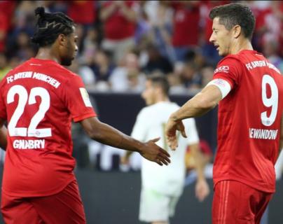 Los jugadores del Bayern Múnich festejan el triunfo frente al Real Madrid. (Foto Prensa Libre: Bayner Múnich)