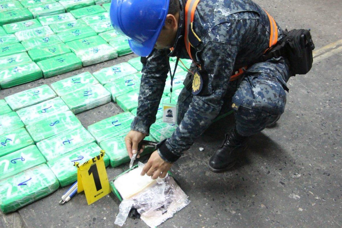 Cocaína decomisada en contenedor está valorada en más de Q14 millones