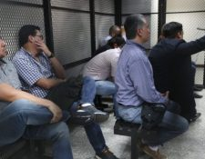 Los 12 procesados escuchan la sentencia dictada por el Tribunal Séptimo Penal en febrero del 2019.  (Foto Prensa Libre: Hemeroteca PL)