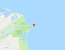 Imagen de la ubicación de Cayo Gracias a Dios. (Foto Prensa Libre: Google Maps).