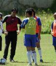 La Selección de Guatemala, dirigida por Ramón Maradiaga, buscaba el pase a Alemania 2006. (Foto Prensa Libre: Hemeroteca PL)