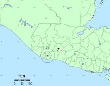 Zona epicentral del sismo. (Foto Prensa Libre: Insivumeh).