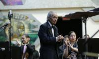 """Robelio Méndez Miranda durante un homenaje que recibió en el auditorio del Conservatorio Nacional de Música """"Germán Alcántara"""" en febrero de 2018. (Foto Prensa Libre: Ministerio de Cultura y Deportes)."""
