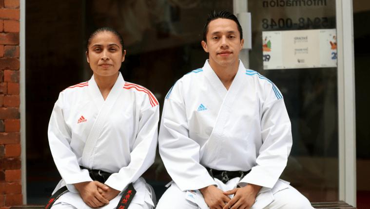 Cheili González y Allan Maldonado estarán en el tatami de los Juegos Panamericanos de Lima 2019. (Foto Prensa Libre: Carlos Vicente)