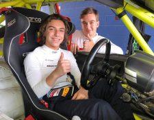 Mateo Llarena e Ian Rodríguez han tenido muchas aventuras juntos dentro del deporte de los motores (Foto Prensa Libre: tomada del Twitter de Ian Rodríguez)