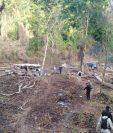 Una de las áreas que ha sido devastada por usurpadores en el Parque Nacional Laguna Lachuá. (Foto Prensa Libre: Conap).