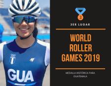 La patinadora guatemalteca Dalia Soberanis vuelve a poner en alto el nombre de Guatemala, ahora en los World Roller Games (Foto Prensa Libre: Federación Nacional de Patinaje)