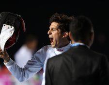 Charles Fernández tuvo una buena participación en el primer día del Pentatlón. (Foto Prensa Libre: Carlos Vicente)