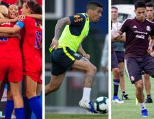 Cartelera espectacular de futbol para este domingo con tres finales de torneos de primer nivel avalados por la FIFA. (Foto Prensa Libre: twitter @miseleccionmx, @USMNT y @CBF_Futebol)