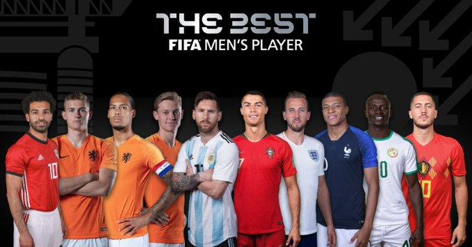 El argentino Lionel Messi y el portugués Cristiano Ronaldo encabezan el listado al premio The Best. (Foto Prensa Libre: Fifa).