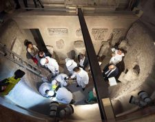 Vatican City (Vatican City State (holy See)), 20/07/2019.- A handout picture provided by the Vatican Media shows experts opening the ossuary at the Teutonic Cemetery, to help solve the 36-year-old disappearance of Italian teenager Emanuela Orlandi, in Vatican City, 20 July 2019. Emanuela Orlandi, the daughter of a Vatican worker, disappeared in June 1983 at the age of 15. The Vatican has opened two burial chambers on the day as part of an investigation aimed at resolving the mystery case. EFE/EPA/VATICAN MEDIA HANDOUT HANDOUT EDITORIAL USE ONLY/NO SALES