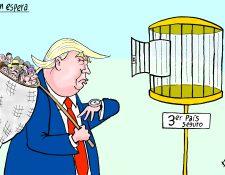 Personaje: Donald Trump.