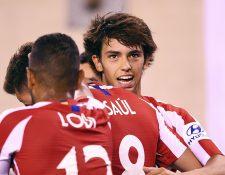 Joao Félix es una de las nuevas promesas en las filas del Atlético de Madrid. (Foto Prensa Libre: AFP).