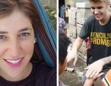 La actriz Mayim Bialik visitó Antigua Guatemala y Tikal, y Justin Bieber recorrió la Ciudad y también visitó Sololá. (Foto Prensa Libre: Instagram y YouTube)