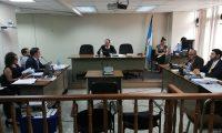 En el Tribunal Octavo Unipersonal Penal, a cargo de Carlos Barrera, inició el debate por tráfico de influencias al exmagistrado de la CSJ, Gustavo Adolfo Mendizabal Mazariegos. (Foto Prensa Libre: Kenneth Monzón)