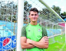 El portero Nicholas Hagen espera vincularse con el KV Kortrijk de la primera división del futbol de Bélgica (Foto Prensa Libre: Francisco Sánchez)