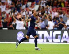 Así festejó Harry Kane el gol en el minuto 90+4. (Foto Prensa Libre: Twitter @Spurs_ES)