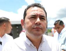Después de 22 días sin dar declaraciones a la prensa, el presidente Jimmy Morales habló un tanto exaltado sobre migración. (Foto Prensa Libre: Érick Ávila)