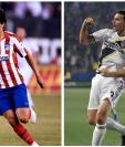 Joao Félix y Zlatan Ibrahimovic, las dos grandes sensaciones del Juego de Las Estrellas de la MLS contra el Atlético. (Foto Prensa Libre: AFP)