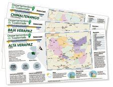 La serie incluye una lámina por cada uno de los 22 departamentos de Guatemala.