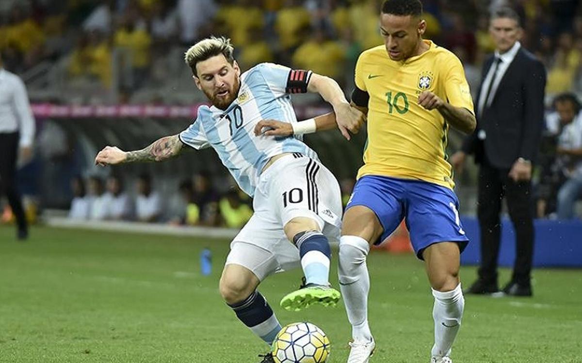 Messi y Neymar podrían reencontrarse en amistoso Brasil-Argentina en noviembre
