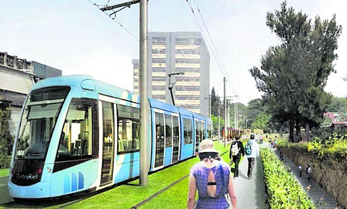 Se espera que el metroriel comience a funcionar en la Ciudad de Guatemala entre el 2023 y 2024.(Foto Prensa Libre: cortesía municipalidad)