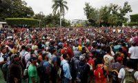 Las caravanas de hondureños detonaron la preocupación del Gobierno de EE. UU. que optó por cerrar las fronteras a los solicitantes de asilo. (Foto Prensa Libre: Hemeroteca PL)