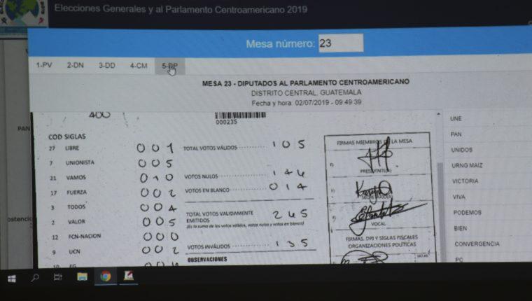 Los problemas que se suscitaron por el fallo informático generó dudas de los resultados electorales. (Foto Prensa Libre: Hemeroteca PL)
