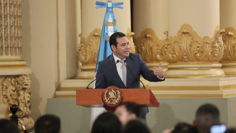 El presidente JImmy Morales viajará a Washington la próxima semana. (Foto Prensa Libre: Hemeroteca PL)