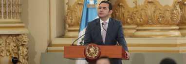 El presidente Jimmy Morales deberá entregar la presidencia el próximo 14 de enero del 2020, sin embargo, después del 11 de agosto, deberá afinar un proceso de transición con el  ganador del balotaje. (Foto Prensa Libre: Hemeroteca  PL)