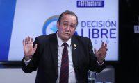 Alejandro Giammattei, candidato a presidente por el Partido Vamos, es entrevistado en Decisi—n Libre 2019.         Fotograf'a Esbin Garc'a  25-07-2019