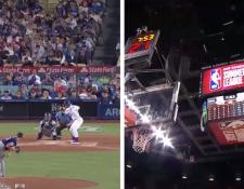 En el partido entre Padres y Dodgers de la MLB y el juego Pelicans vs Knicks de la NBA Summer se vivieron momentos de pánico. (Foto Prensa Libre: Twitter @ESPN y  @Padres)