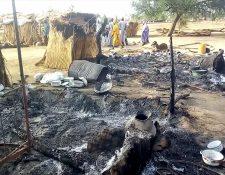 Los terroristas de Boko Haram devastaron un pueblo en Maiduguri. (Foto Prensa Libre: AFP)