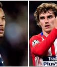 ¿Llegará alguno de los dos o ambos jugadores al Barcelona? Neymar y Griezmann son los futbolistas más deseados para los culés. (Foto Prensa Libre: Hemeroteca PL)