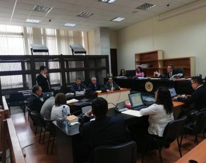 Audiencia en la que el expresidente Otto Pérez Molina pedirá medidas sustitutivas. (Foto Prensa Libre: Kenneth Monzón).