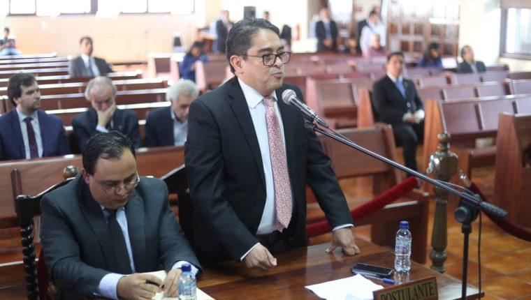 El procurador de los Derechos Humanos, Jordán Rodas, asistió a una vista pública en la Corte de Constitucionalidad por el tema de la Cicig. (Foto Prensa Libre: Esbin García)
