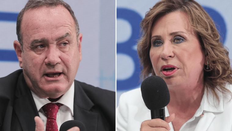 Alejandro Giammattei y Sandra Torres buscan ganar la Presidencia en los comicios del 11 de agosto.  (Foto Prensa Libre: Hemeroteca PL)