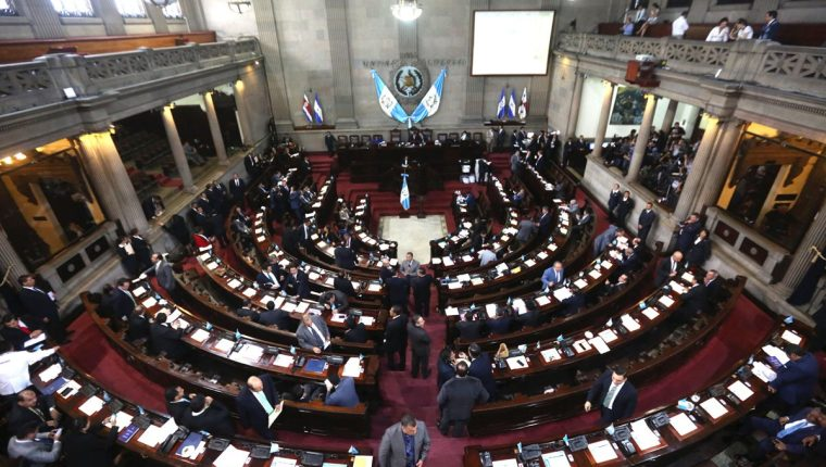 Se prevé que el Congreso de la República se paralice durante lo que resta del año. (Foto Prensa Libre: Hemeroteca PL).
