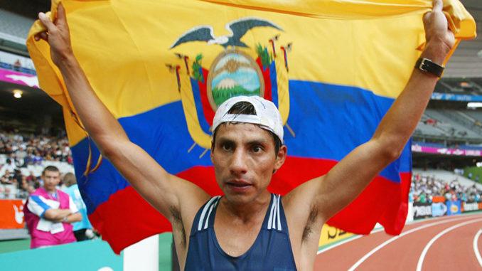 Pérez es el ícono deportivo de Ecuador y uno de los historícos de la Marcha. (Foto Prensa Libre: Redes)